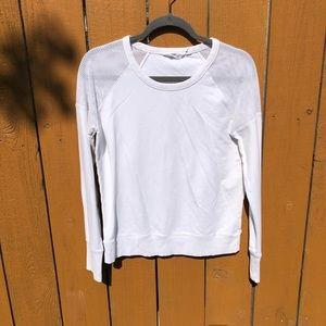 Athleta Citytime Sweatshirt in White Small